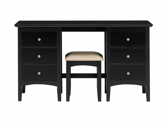 Mu0026S Hastings Dark Dressing Table And Stool Set: £319.20, Mu0026S