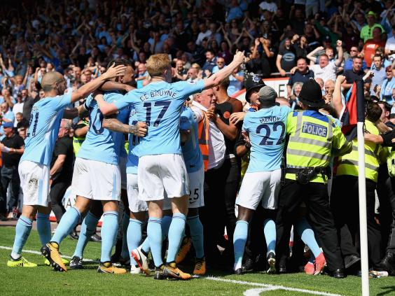 Image result for Guardiola demands explanation for Sterling red in Man City win
