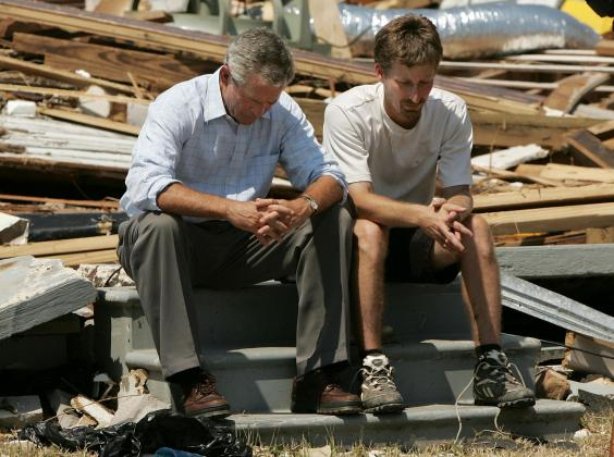 Image result for on september 15 2005 president george w. bush vows massive rebuilding after hurricane katrina