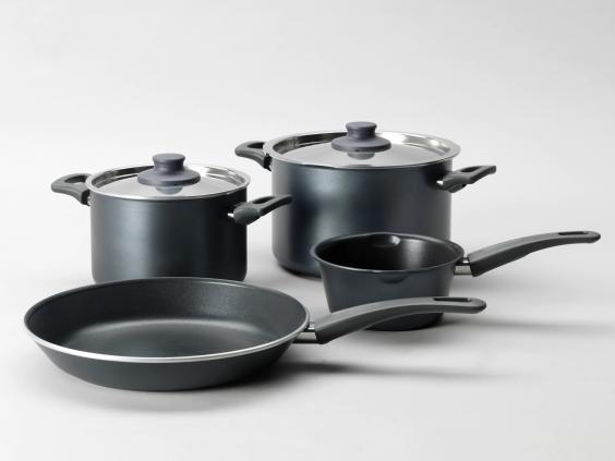9 best kitchen starter sets for students the independent. Black Bedroom Furniture Sets. Home Design Ideas