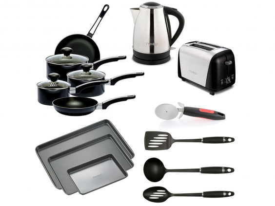 This Set From Prestige Is Good If Youu0027re Looking For The Big Kitchen  Elements: A Kettle And Toaster, As Well As Five Non Stick Pans And Three  Pieces Of ...