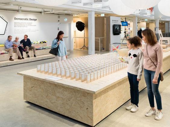 Exhibition Portable Flat Pack Furniture : Ikea uk at spreading democratic values through the
