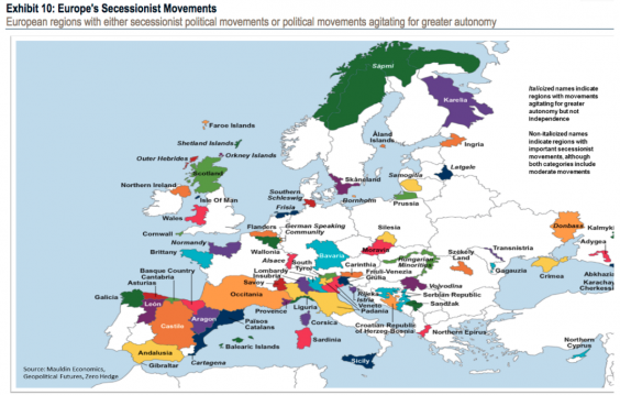This map shows the european regions fighting to achieve for American regional cuisine 2nd edition
