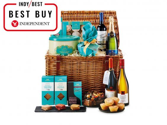 11 best christmas food and drink hampers the independent aldi exquisite hamper 9999 aldi negle Choice Image