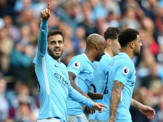 Image result for bernardo silva city 7-2 stoke