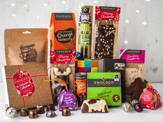 11 best christmas food and drink hampers the independent chococo luxury christmas chocolate hamper 9995 chococo forumfinder Images