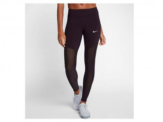 nike.jpg. With mesh from mid-thigh to ankle, these tights aren't as warm as  others we tried but would be great for autumn runs or training in the gym.
