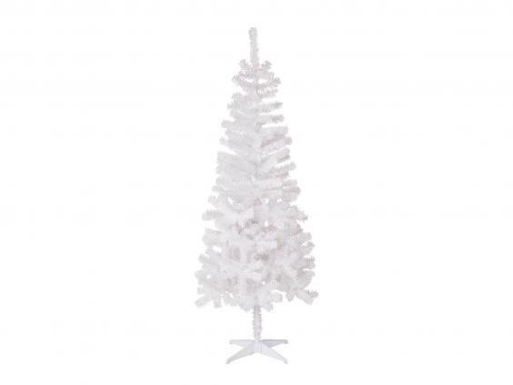 bq classic white christmas tree 18 bq - Fake White Christmas Tree