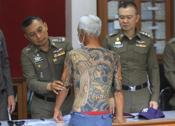Shirai dituduh sebagai salah satu dari delapan gangster yang terlibat dalam pembunuhan pemimpin geng lainnya pada tahun 2003 (AP)