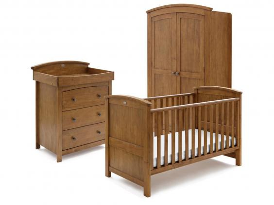 solid wood nursery furniture. Silver Cross Ashby 3 Piece Room Set: £1,150, Samuel Johnston Solid Wood Nursery Furniture