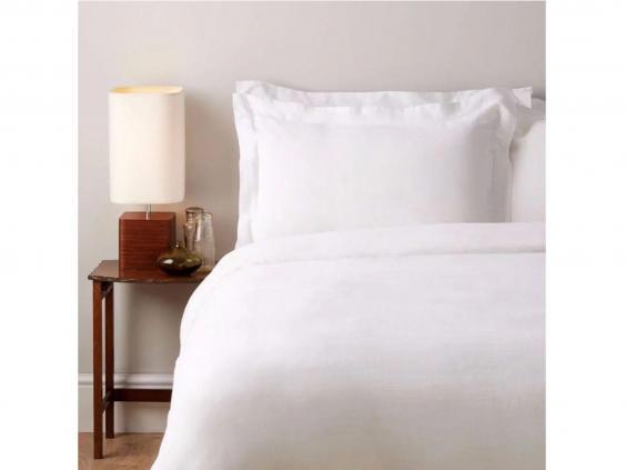 11 best linen bedding sets the independent. Black Bedroom Furniture Sets. Home Design Ideas
