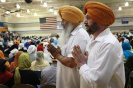 Secrets of comedy couples  What     s it like when both you and your     Sikh man shot by American man shouting      go back to your own country