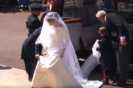 Meghan Markle's wedding dress designed by Givenchy