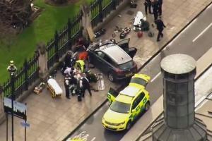London attack  Theresa May         yards away      from scene of stabbing