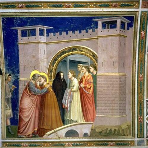 Bondone, di Giotto: The Meeting at the Golden Gate (1305 ...  Bondone, di Gio...