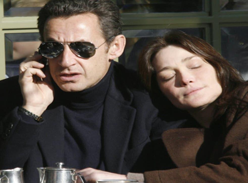 Bruni with French president Nicholas Sarkozy