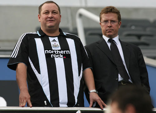 Ashley (left) has substantiated reports that he is willing to speak to others with a view to their purchasing part of the club