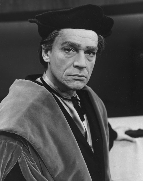 Scofield as Sir Thomas More in 'A Man for All Seasons', 1961