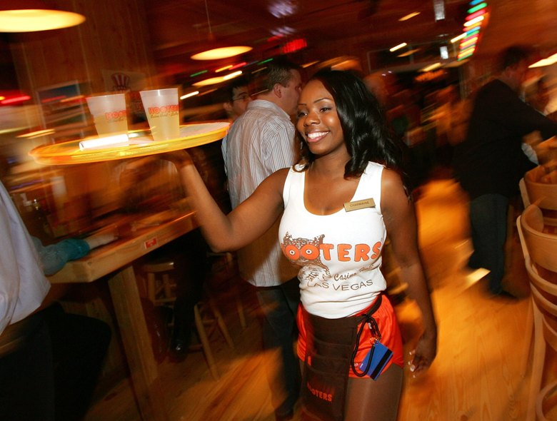 Hooters: Over the top, underdressed, and over here