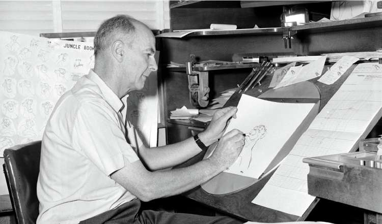 'I found in animation something full of life and movement': Johnston at work on 'The Jungle Book', 1965