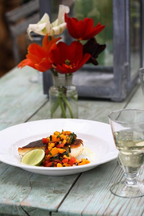 Use the mango salsa to spice up fish dishes © Lisa Barber