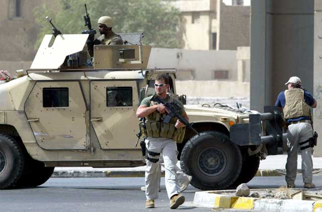 Security contractors from Blackwater USA are accused of killing 17 Iraqis