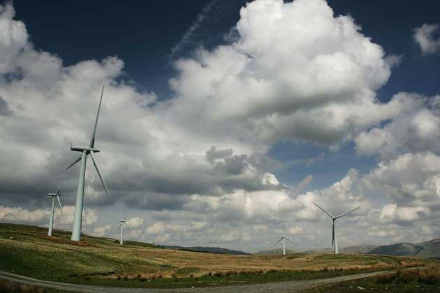 David Cameron insisted today that the Government's energy policy has not changed, after a Tory minister attacked the way wind farms were being 'peppered' across the countryside