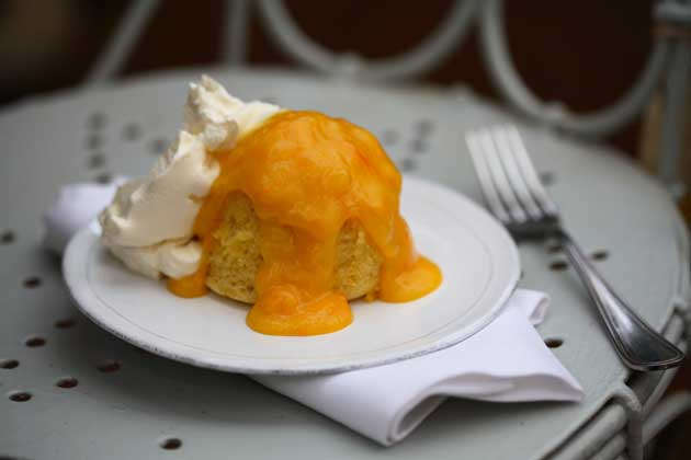 Serve the puddings with a large dollop of mascarpone on the side