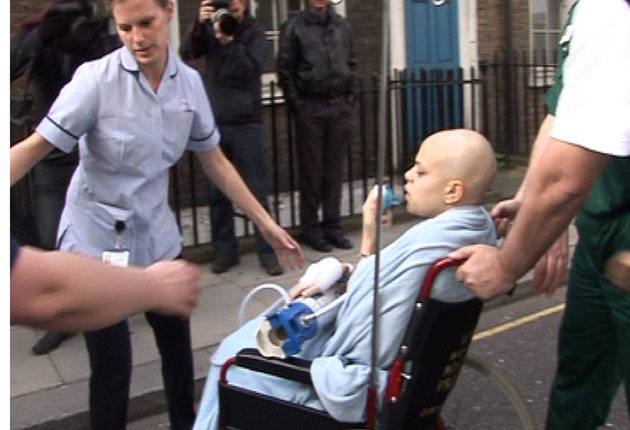 Jade Goody left hospital last week to spend her last days at home with her family.