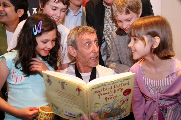Michael Rosen reads from his book Mustard, Custard, Grumble Belly and Gravy
