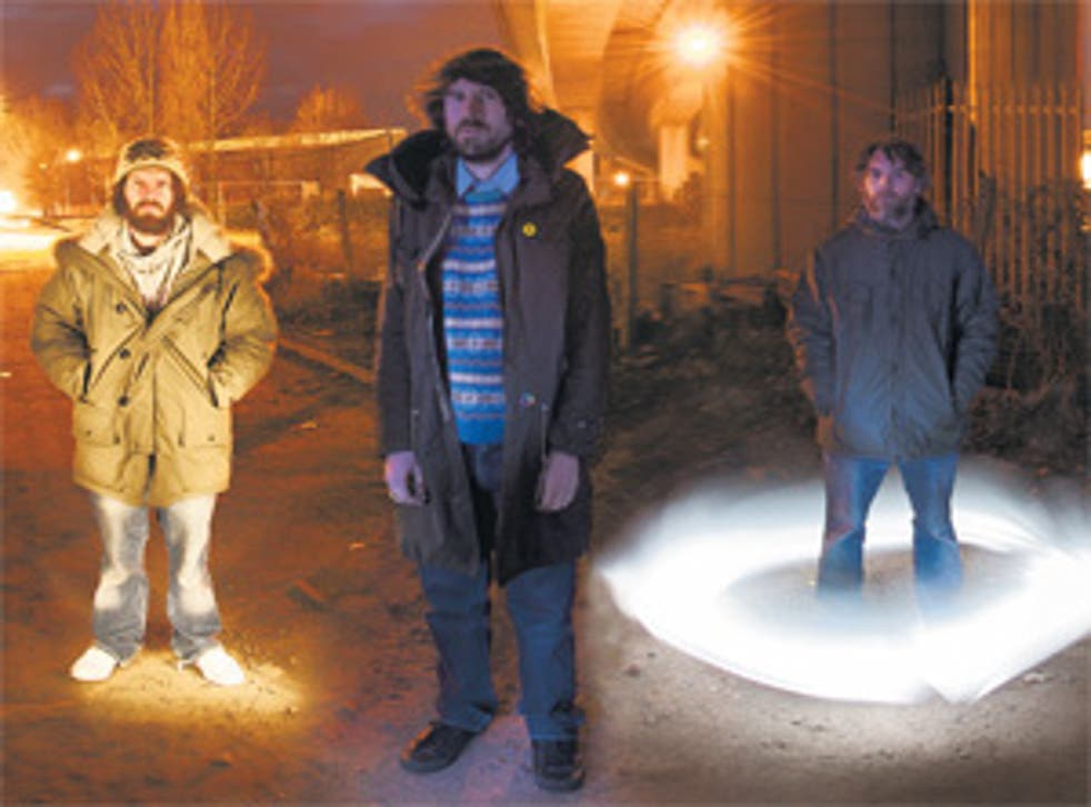 Rhys with his band, The Super Furry Animals