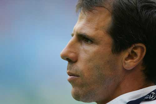 Zola finds his team in the midst of a relegation battle