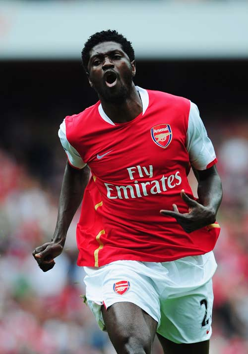 Adebayor could be leaving Arsenal and heading for Milan