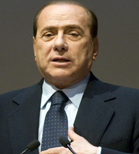 Berlusconi has criticised the formation at AC Milan