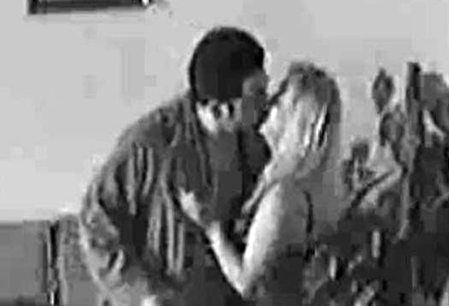 A frame from the video supposedly showing James Hudson with a prostitute