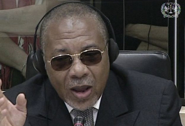 The former Liberian president Charles Taylor during a previous session of the International Criminal Court