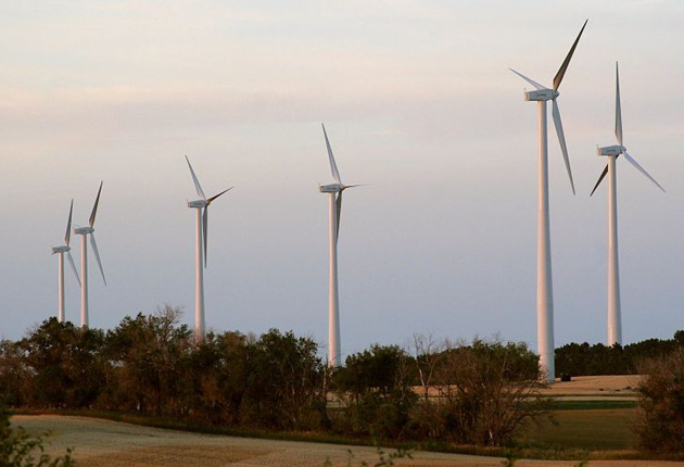 The number of new windfarms becoming active has fallen by 30 per cent