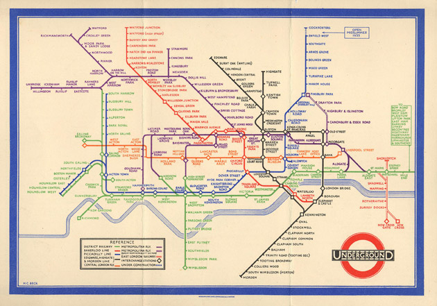 great works the london underground map 1931