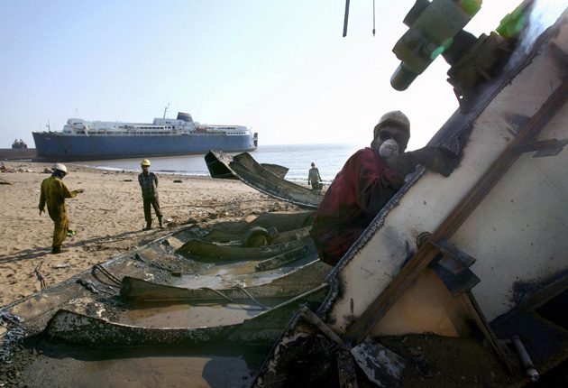 Alang: The place where ships go to die | The Independent