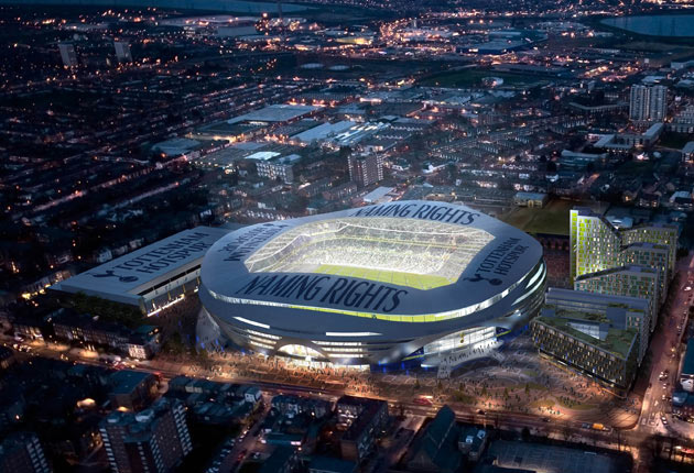 An artist's impression of how a new stadium might look