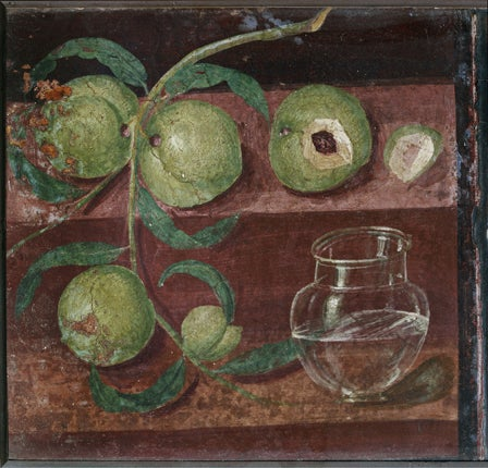 great works still life with peaches c ad50 anon the independent