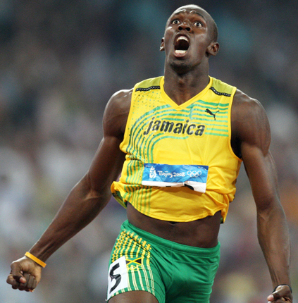 'If Queen Elizabeth knighthooded me, I'd be Sir Usain Bolt,' muses the 100m record holder
