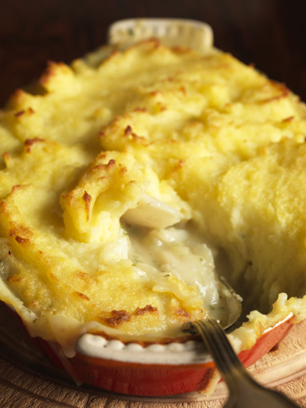 Monkfish cheeks make a delicious, cheap and ethically correct filling