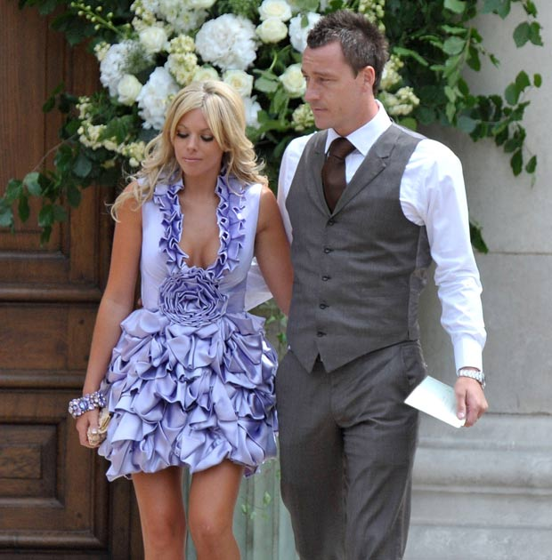 John Terry and his wife Toni Poole pictured together last summer