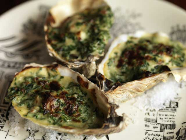 Oysters with bacon and spinach | The Independent