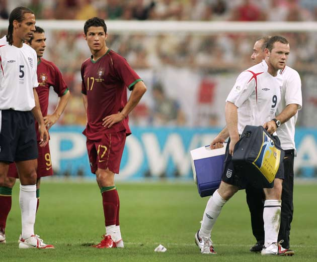 d86ef4ff9 World Cup 2014 countdown  Cristiano Ronaldo gives a wink after Wayne Rooney  red card