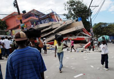 Damage from the earthquake which brought Haiti to its knees