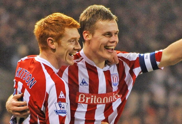 The Stoke defender Ryan Shawcross (right) was sent off after his challenge left Arsenal's Aaron Ramsey with a broken leg at the Britannia Stadium in February