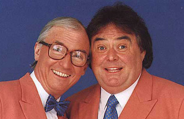Comedy duo Little and Large perform in 1983