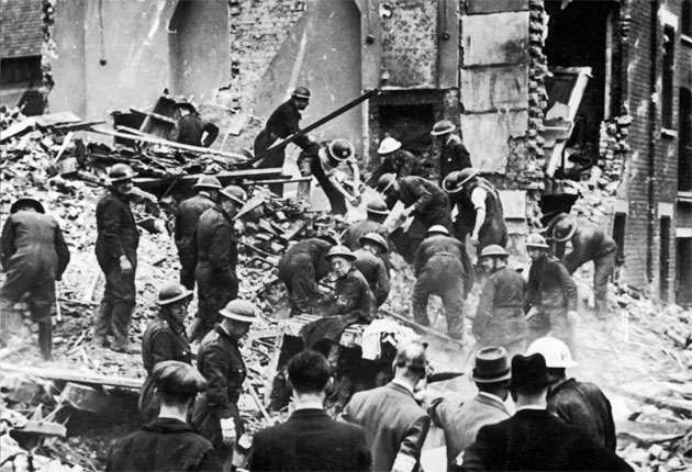 Bermondsey was targeted during the Blitz